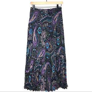 New York City Design Skirt M Peasant Maxi Paisley
